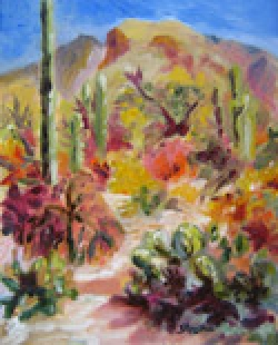 Sabino Morning Light, oil on canvas by Barbara Strelke