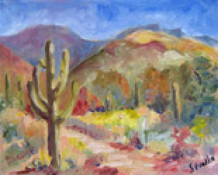 Sabino Study #1, oil on canvas panel by Barbara Strelke